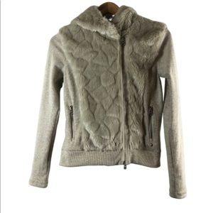 Armani exchange hooded symenteical SP jacket beige